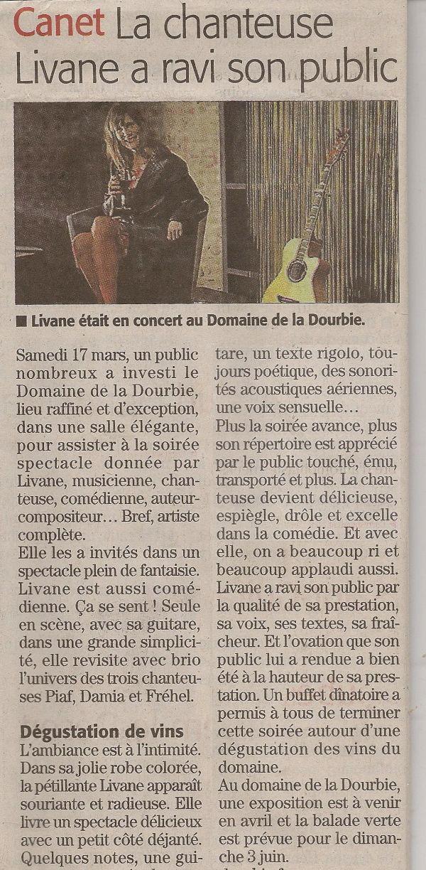 La chanteuse Livane a ravi son public au domaine de la Dourbie à Canet dans l'Hérault