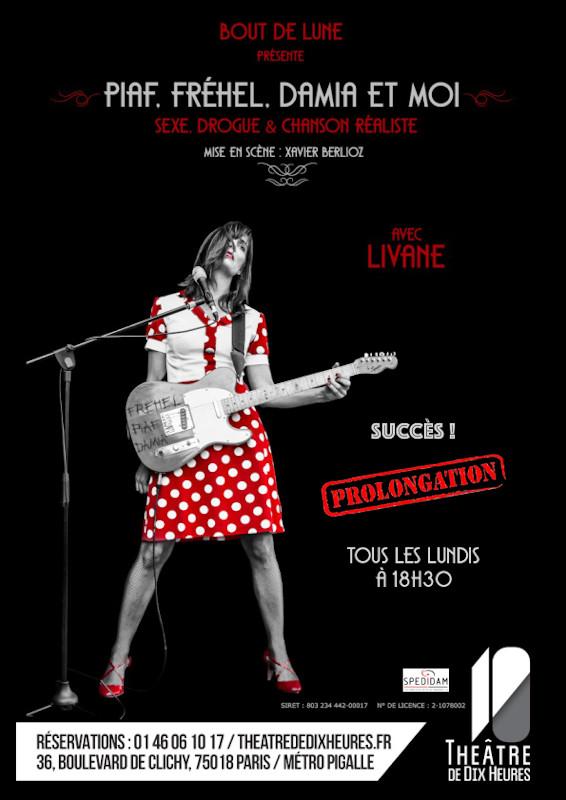 Livane en concert au théâtre de dix heures à Paris